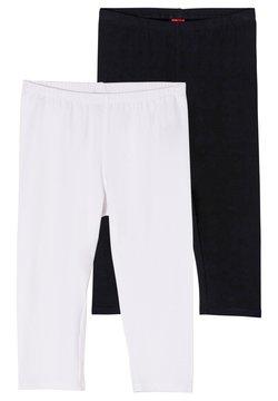 s.Oliver - Legging - white/black