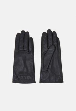 HUGO - LOGO GLOVES - Gloves - black