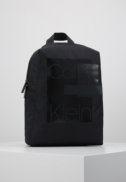 Calvin Klein - LAYERED  ROUND BACKPACK - Reppu - black