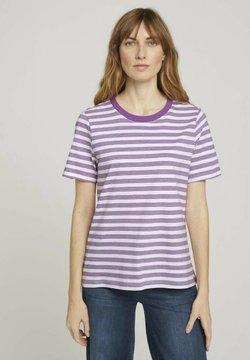 TOM TAILOR - T-Shirt print - lilac offwhite stripe