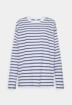 ARKET - JERSEY LONG SLEEVE - Langarmshirt - white/blue
