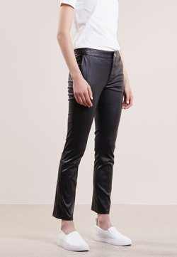 2nd Day - LEYA - Pantalon en cuir - black