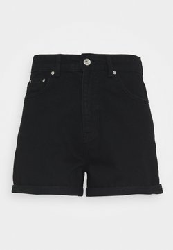 Gina Tricot - DAGNY MOM SHORTS - Shorts - black