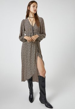 PULL&BEAR - Jupe portefeuille - brown