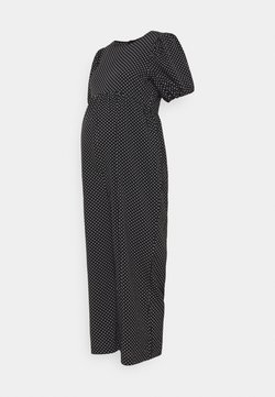 Missguided Maternity - POLKA PUFF SLEEVE CULOTTE - Combinaison - black
