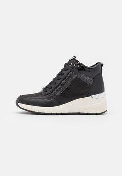 TOM TAILOR - Höga sneakers - black