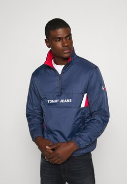 Tommy Jeans - REVERSIBLE RETRO POPOVER - Übergangsjacke - twilight navy