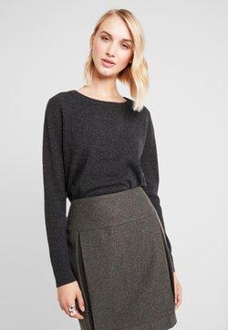 Selected Femme - SLFAYA O NECK - Pullover - dark grey melange