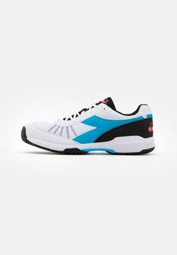 Diadora - S.CHALLENGE 3 AG - Tennisschoenen voor alle ondergronden - white/blue fluo