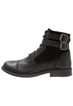 Levi's® - MAINE W BUCKLE - Santiags - regular black