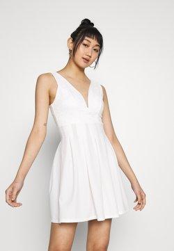 WAL G. - TOP MINI DRESS - Sukienka z dżerseju - white