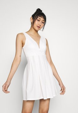 WAL G. - TOP MINI DRESS - Trikoomekko - white