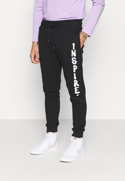 Topman - PHOTO INSPIRE PRINT - Jogginghose - black