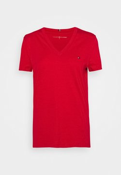 Tommy Hilfiger - NEW VNECK TEE - T-Shirt basic - primary red