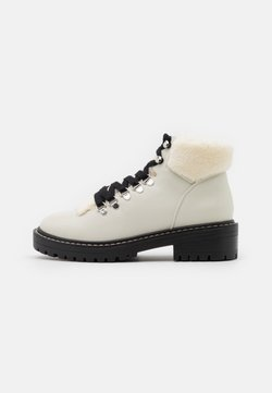 ONLY SHOES - ONLBOLD LACE UP - Boots à talons - offwhite