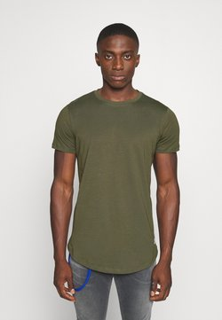 Jack & Jones - JJENOATEE CREW NECK  - T-shirts - forest night