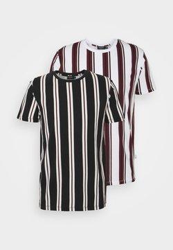 Burton Menswear London - 2 PACK - T-shirt print - white