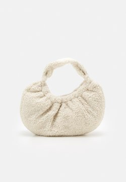 Topshop - BORG SCRUNCHIE SHOULDER - Handbag - off-white