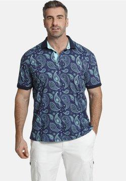 Charles Colby - EARL SUITBERT - Poloshirt - blau gemustert