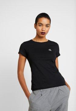 Calvin Klein Jeans - EMBROIDERY SLIM TEE - T-shirt basic - black
