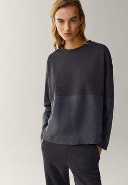 Massimo Dutti - MIT RUNDAUSSCHNITT  - Sweatshirt - dark blue