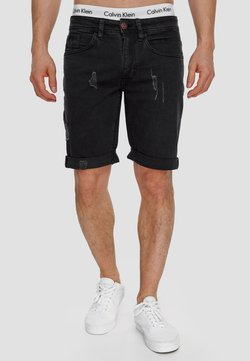 INDICODE JEANS - Shorts di jeans - black