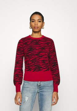 Calvin Klein Jeans - ZEBRA  - Strickpullover - red hot