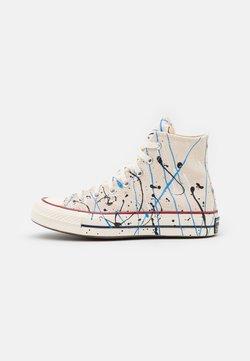 Converse - CHUCK 70 ARCHIVE PAINT SPLATTER PRINT UNISEX - Sneakersy wysokie - egret/digital blue