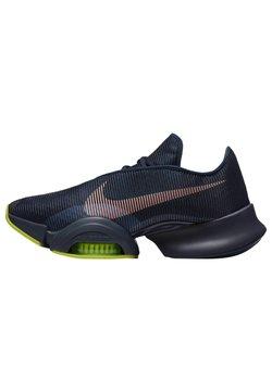 Nike Performance - AIR ZOOM SUPERREP 2 UNISEX - Sports shoes - blackened blue/bright mango-cyber