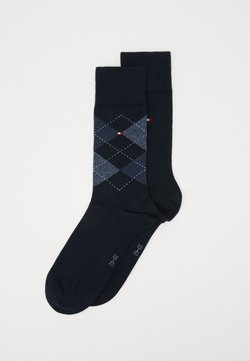 Tommy Hilfiger - MEN SOCK CHECK 2 PACK - Socken - dark navy