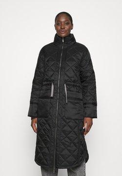 Hunter ORIGINAL - WOMENS REFINED LONG QUILTED COAT - Winter coat - black