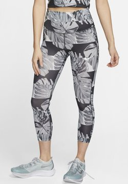 Nike Performance - NIKE FAST WOMEN'S CROP RUNNING LEGGINGS - Trikoot - black
