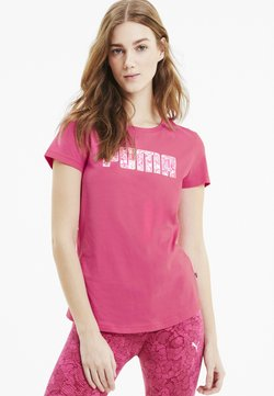 Puma - T-shirt con stampa - glowing pink