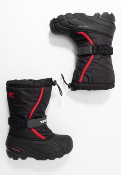 Sorel - YOUTH FLURRY - Talvisaappaat - black/bright red