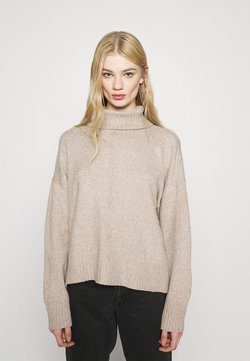 Noisy May - NMIAN ROLL NECK  - Strickpullover - beige