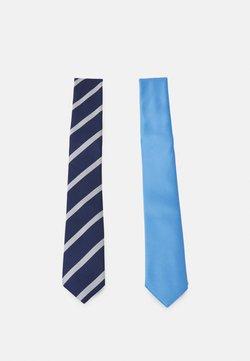 Pier One - 2 PACK - Krawatte - dark blue/light blue