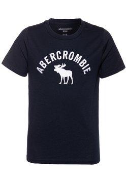 Abercrombie & Fitch - TECH LOGO - T-shirt z nadrukiem - navy