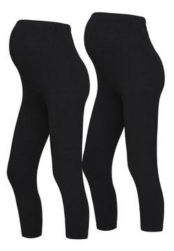 MAMALICIOUS - 2 PACK - Leggings - Trousers - black