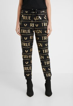 True Religion - PANTS - Jogginghose - black