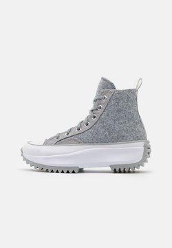 Converse - RUN STAR HIKE - Sneaker high - ash stone/silver/white