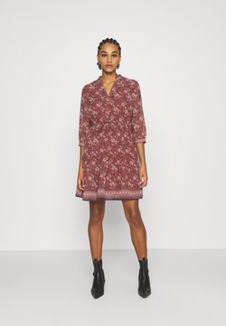 Vero Moda - VMBELLA DRESS - Freizeitkleid - marsala/bella