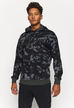 Under Armour - RIVAL - Hoodie - baroque green