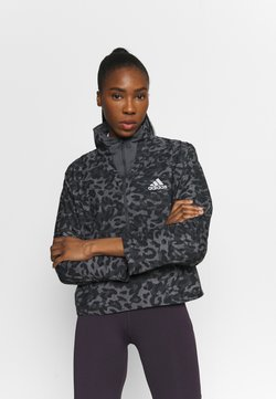 adidas Performance - FAST 1/2 ZIP - Laufjacke - grey four/black