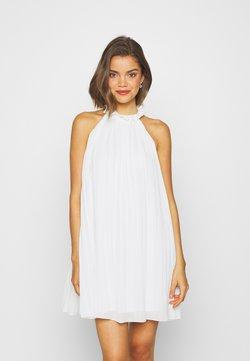 Missguided - HIGH NECK PLEATED MINI DRESS - Cocktailkleid/festliches Kleid - white