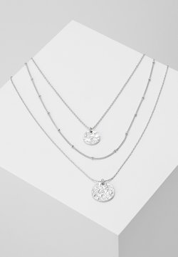 Pieces - PCEIDA COMBI NECKLACE KEY - Collier - silver-coloured