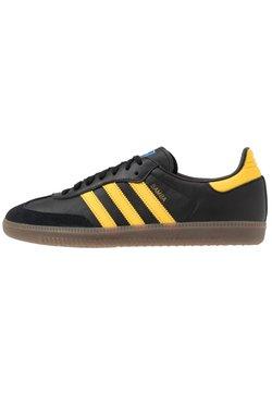 adidas Originals - SAMBA - Sneaker low - core black/equipment yellow/blu bird