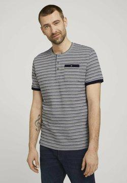 TOM TAILOR - GESTREIFTES - T-Shirt print - sailor blue waffle stripe