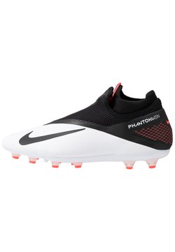 Nike Performance - PHANTOM VISION 2 PRO DF AG-PRO - Moulded stud football boots - white/black/laser crimson