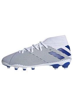 adidas Performance - NEMEZIZ 19.3 MIXED GROUND BOOTS - Fußballschuh Nocken - white/blue