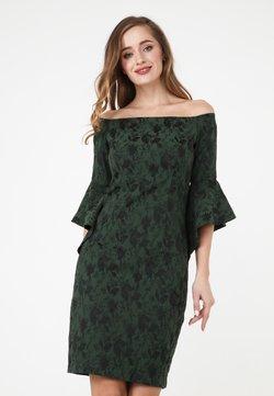 Madam-T - SABINA - Etuikleid - grün schwarz
